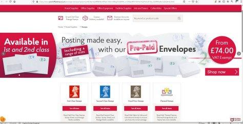 postofficeshop Web Page